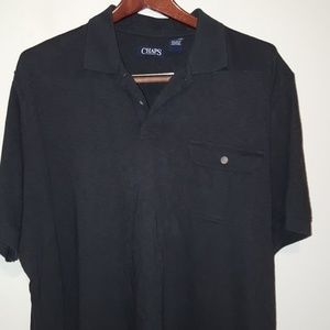 Chaps black casual golf shirt size XXL